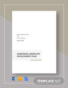 Gardening And landscape Development Plan Template