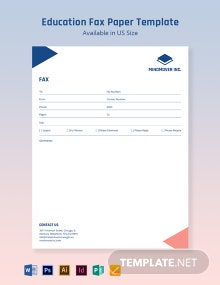 Education Fax Paper Template