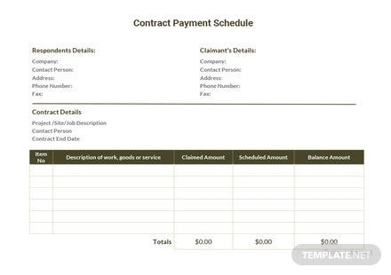 Monthly Payment Schedule Template in Microsoft Word, Excel ...