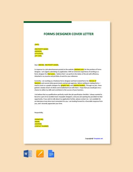 Forms Designer Cover Letter