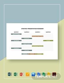 Strategy Presentation Roadmap Template