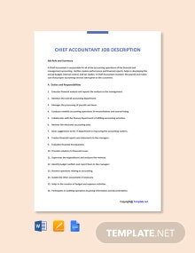 Free Chief Accountant Job Ad and Description Template