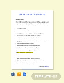 Free Pipeline Drafter Job Ad and Description Template