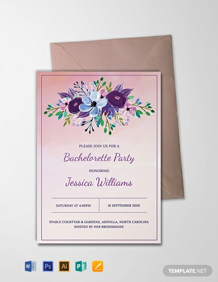 photo about Free Printable Bachelorette Party Invitations identify Cost-free Printable Bachelorette Occasion Invitation Template - Phrase