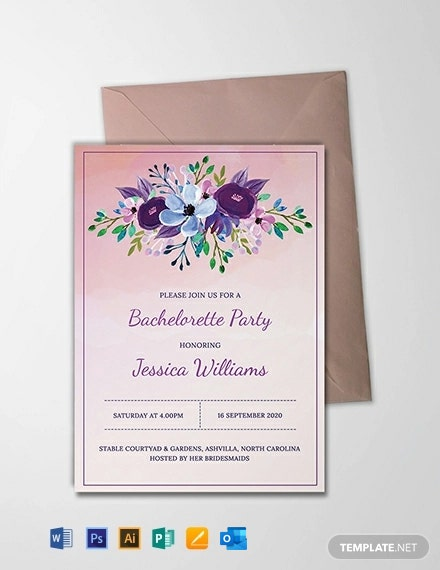 Free Printable Bachelorette Party Invitation Template