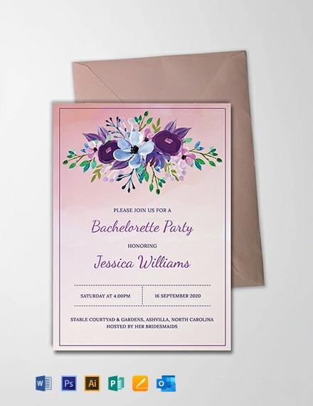 Free Printable Bachelorette Party Invitation Template