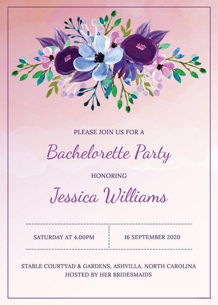 Printable Bachelorette Party Invitation Template