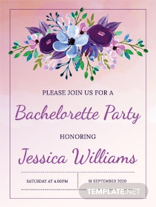 Printable Bachelorette Party Invitation Template
