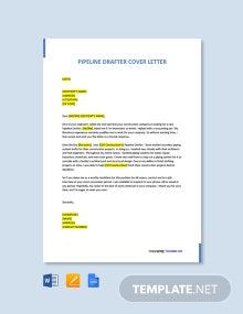 Free Pipeline Drafter Cover Letter Template
