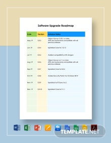 Software Upgrade Roadmap Template