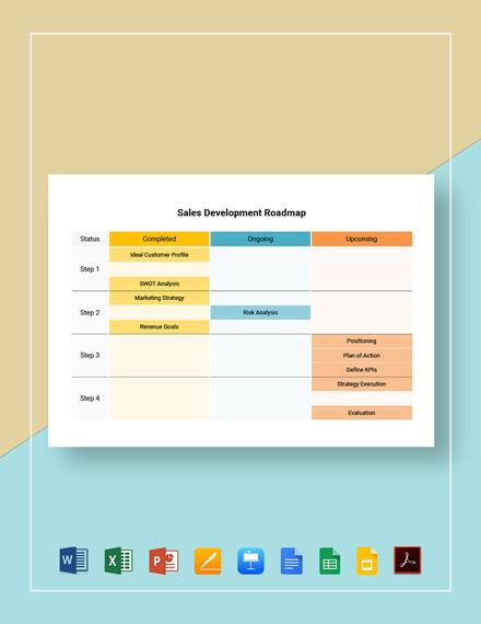 Free Simple Sales Development Roadmap Template
