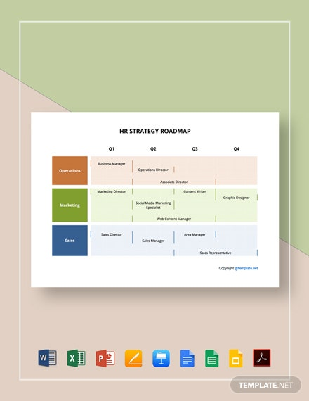Free Simple HR Strategy Roadmap Template