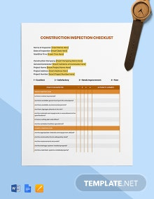 Building Construction Inspection Checklist Template