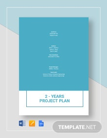 2-Year Project Plan Template