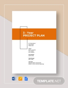 3-Year Project Plan Template