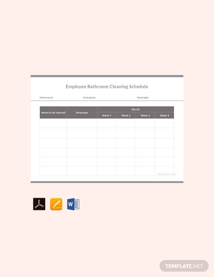 Free Employee Bathroom Cleaning Schedule Template