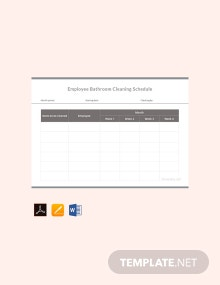 Employee Bathroom Cleaning Schedule Template
