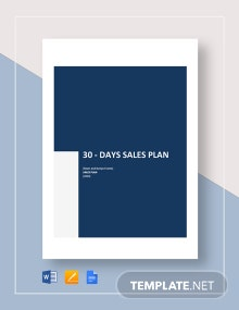 30-day Sales Plan Template