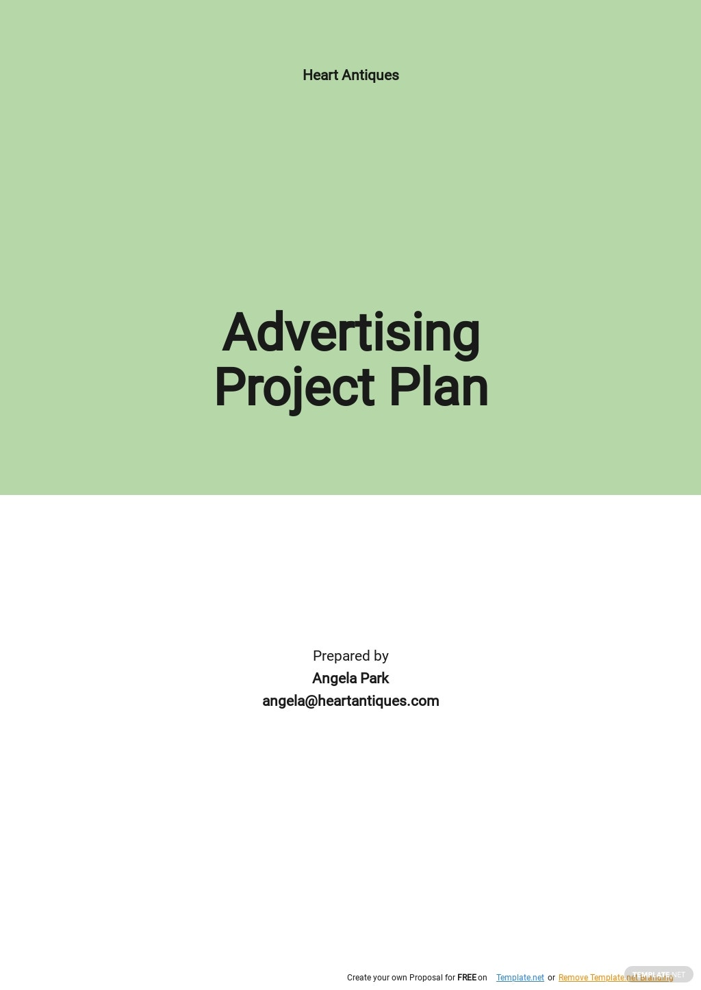 Advertising Project Plan Template.jpe
