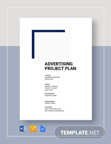 Advertising Project Plan Template