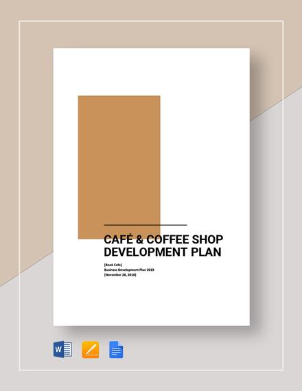 Cafe_Coffee shop Development Plan Template
