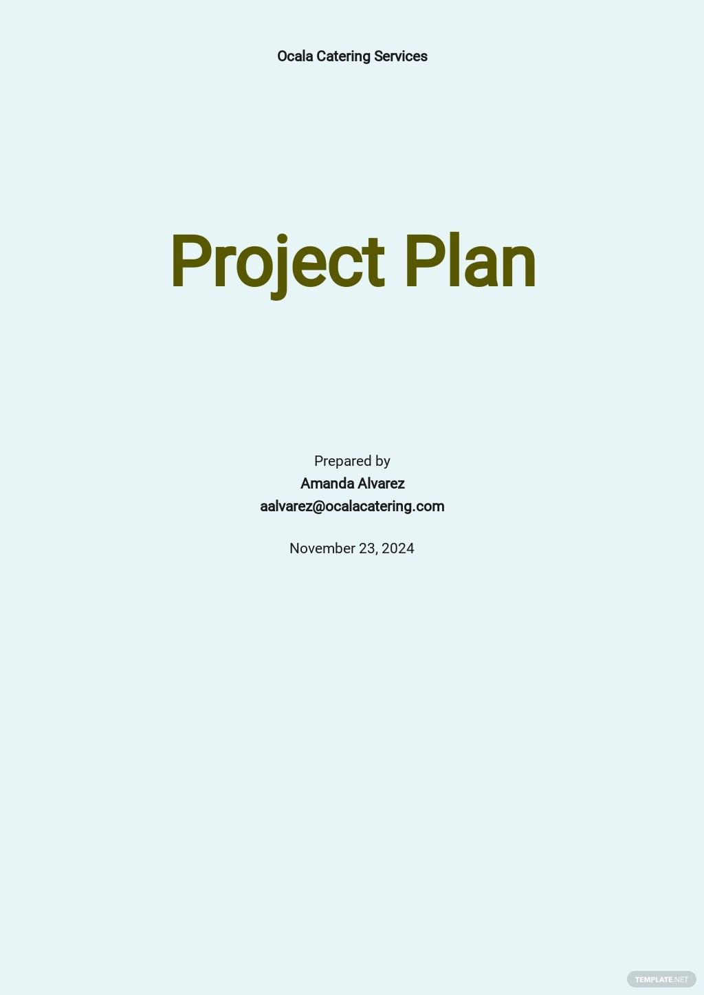 Catering Project Plan Template.jpe