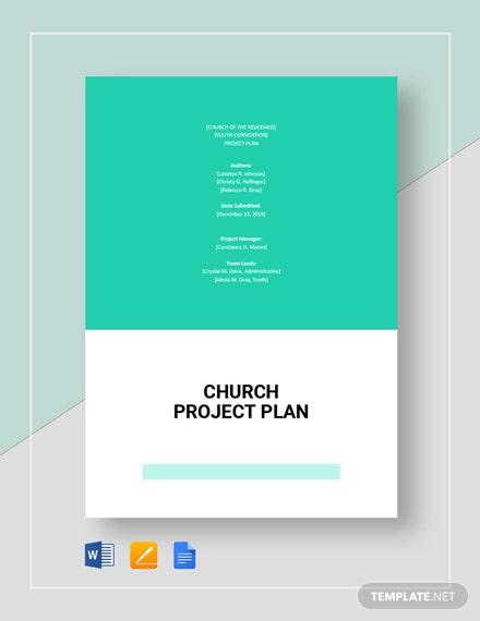 Church Project Plan Template