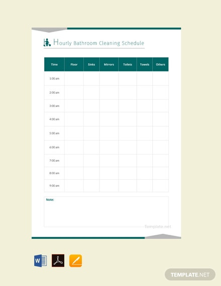 free bathroom cleaning schedule template download 128 schedules in
