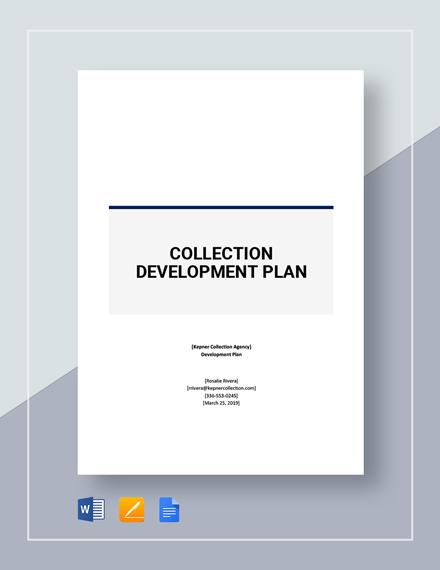 Collection Development Plan Template