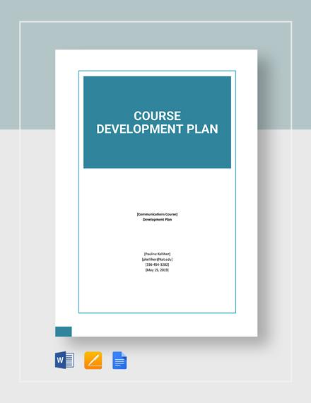Course Development Plan Template