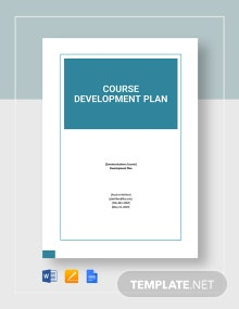 Course Development Plan Template