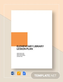 Elementary Library Lesson Plan Template
