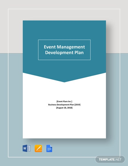 Event Management Development Plan Template