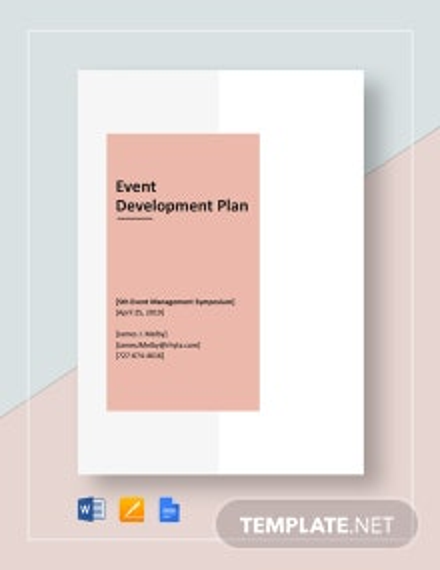 Event Development Plan Template