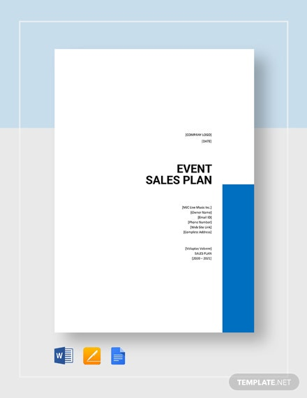 Event Sales Plan Template