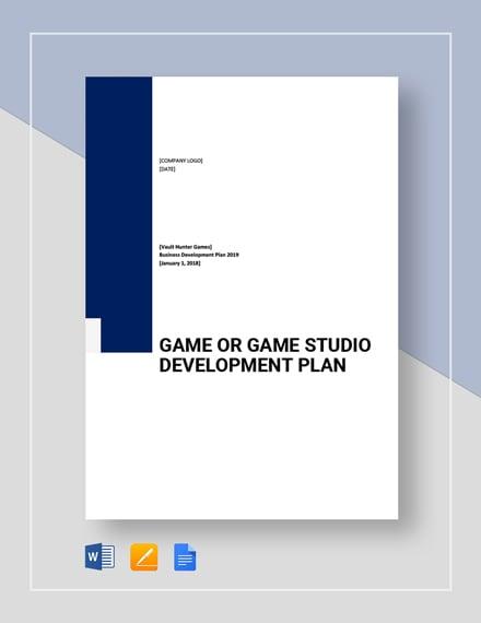 Game game studio Development Plan