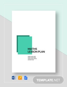 Maths Lesson Plan Template