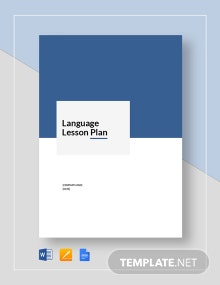Language Lesson Plan Template