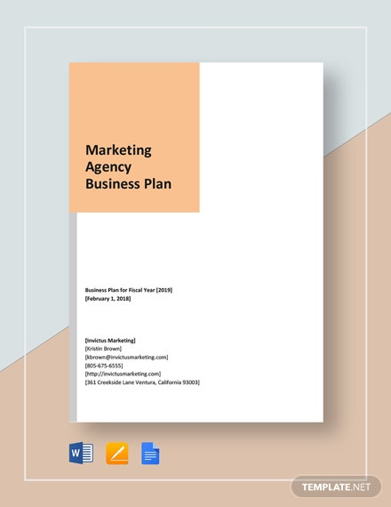 Marketing Agency Business Development Plan Template