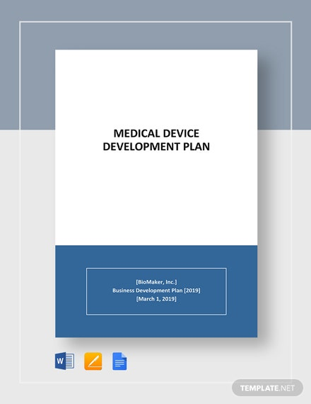 Medical Device Development Plan Template