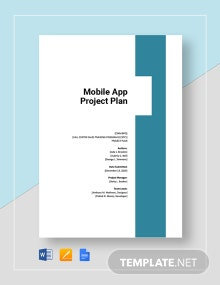 Mobile App Project Plan Template
