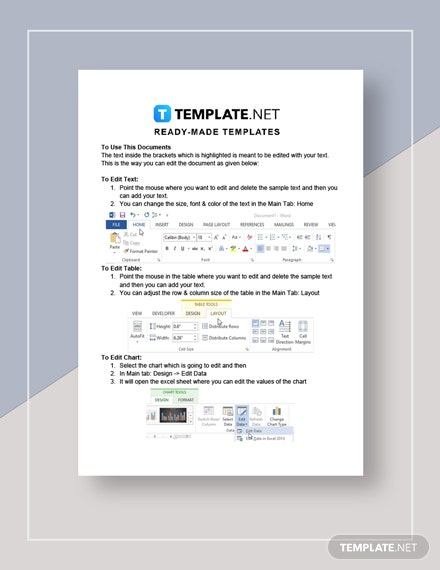Network Sales Plan Instruction
