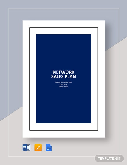 Network Sales Plan Template