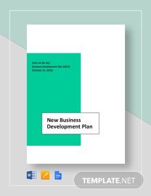 New Business Development Plan Template