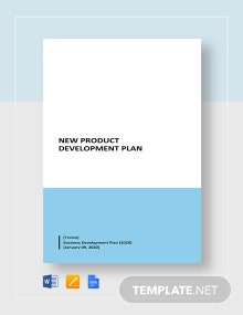New Product Development Plan Template