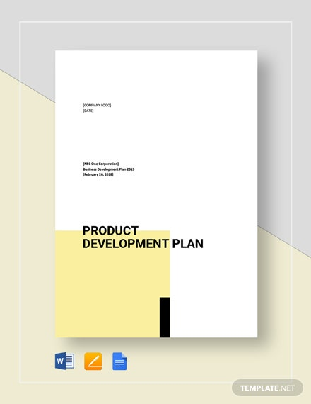 Product Development Plan Template