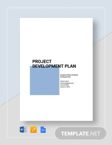 Project Development Plan Template