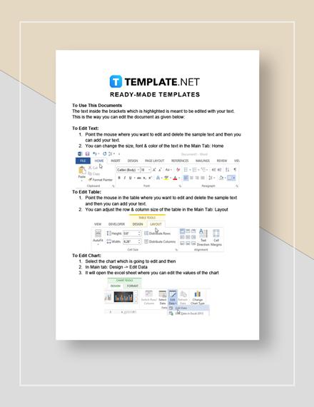 Restaurant Competitive Analysis Instruction
