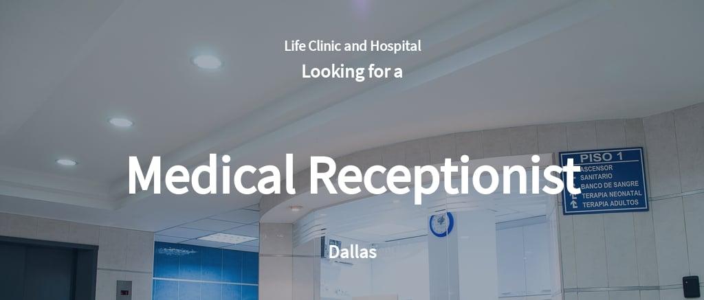 Medical Receptionist Job Ad and Description Template