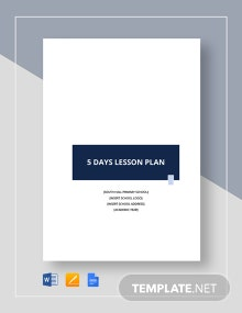 5-Day Lesson Plan Template
